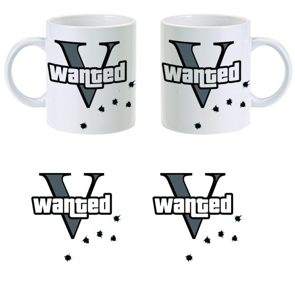 Grand Theft Auto V Wanted Five V Mug ZT
