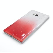 YouSave Accessories Nokia Lumia 930 Raindrop Hard Case - Red-Clear