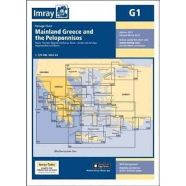 Imray Chart G1 : Mainland Greece and the Peloponnisos : 1