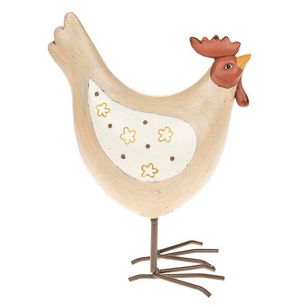 Henrietta Hen Cream Wing Large Ornament
