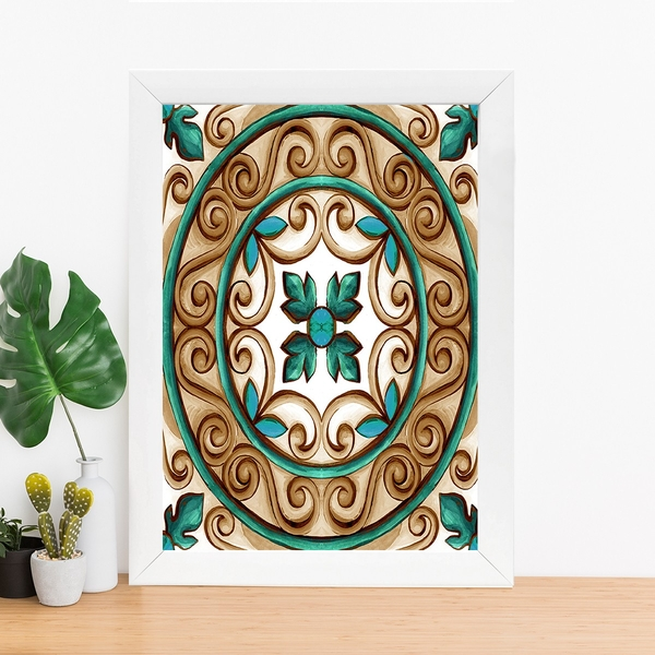 BC4821034121 Multicolor Decorative Framed MDF Painting