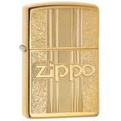 Zippo and Pattern Design High Polish Brass Windproof Lighter