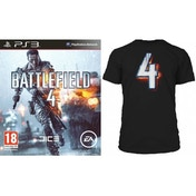 Battlefield 4 Game (Includes China Rising DLC) + BF4 Black T-Shirt in Large PS3
