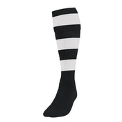 Precision Hooped Football Socks Mens Black/White