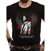 Supernatural - Castiel Men's X-Large T-Shirt - Black
