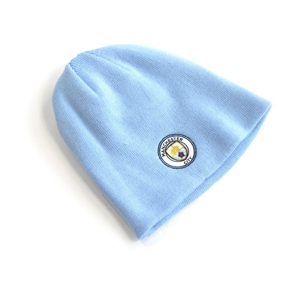 Man City Mass Beanie Hat Sky