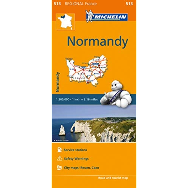 Normandy - Michelin Regional Map 513 Map Sheet map 2016