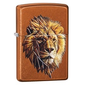 Zippo Polygonal Lion Design Toffee regular Windproof Lighter