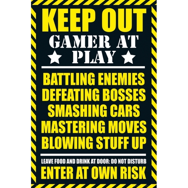 Gaming Keep Out Maxi Poster