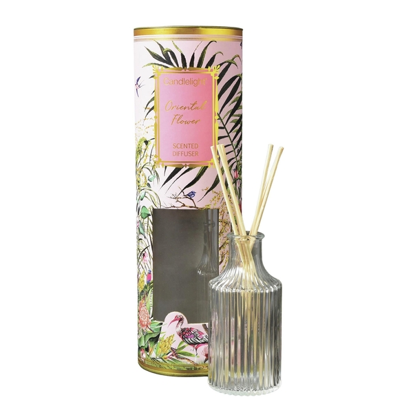 Candlelight Chinoiserie Reed Diffuser Oriental Flower Scent 150ml