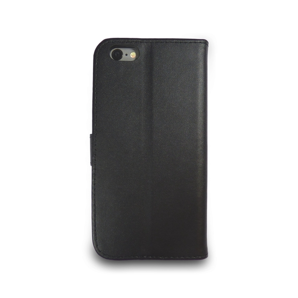 iPhone 5/5s/SE Black Leather Phone Case + Free Screen Protector Flip Wallet Gadgitech - Image 3
