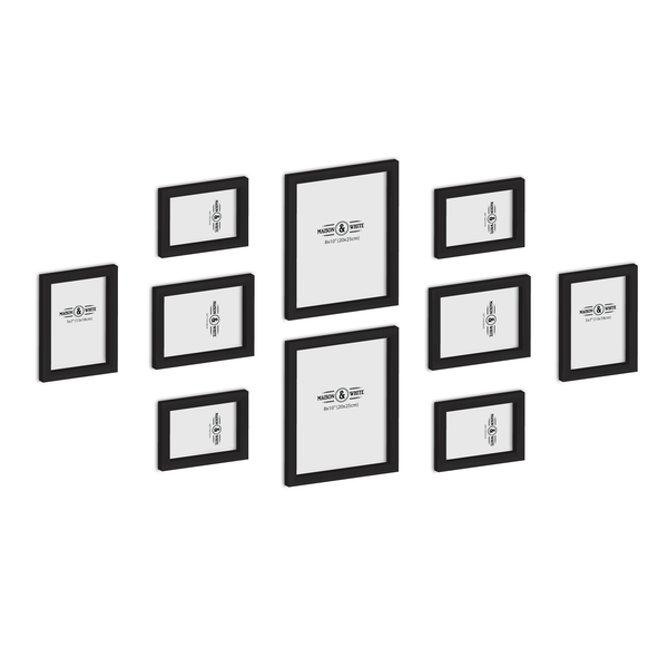 Set of 10 Picture / Photo Frames | M&W Black - Image 1