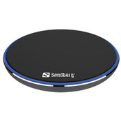 Sandberg Wireless Charging Pad, 10W, Aluminium, Micro USB, Supports Fast Charge UK Plug