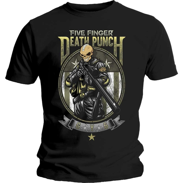 Five Finger Death Punch - Sniper Unisex Small T-Shirt - Black