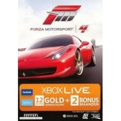 Xbox Live Forza 4 Branded Gold Membership 12 Month + 2 Bonus Months Xbox 360