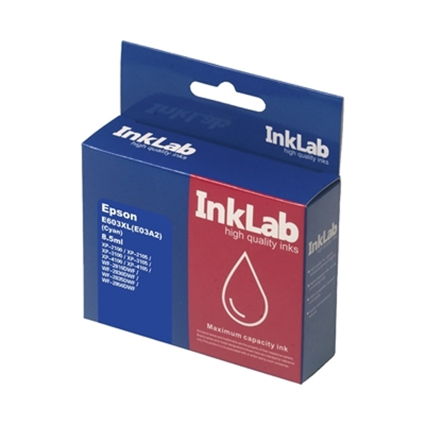InkLab 603XL Epson Compatible Cyan Replacement Ink