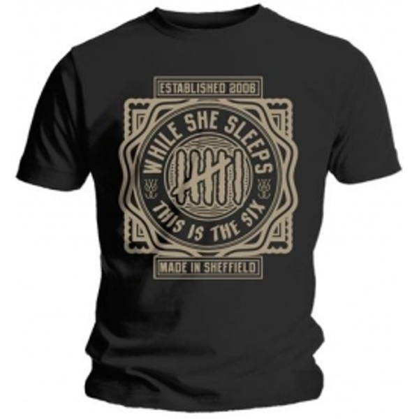 While She Sleeps This Is The Six Mens T Shirt: X Large