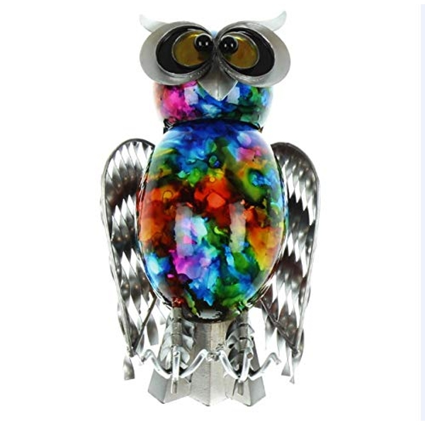 Country Living Hand Painted Metal Owl 20cm