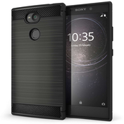 Sony Xperia L2 Carbon Fibre Anti Fall TPU Case - Black