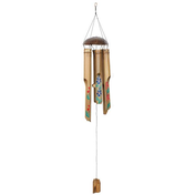 Painted Hibiscus Bamboo Windchime