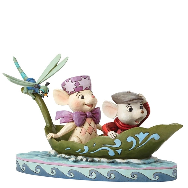 To The Rescue Bernard & Bianca 40th Anniversary Piece (The Rescuers) Disney Traditions Figurine