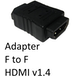 HDMI 1.4 (F) to HDMI 1.4 (F) Black OEM Gender Changer Adapter - Image 2
