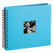 Fine Art Spiral Bound Album 36 x 32cm 50 Black pages Turquoise