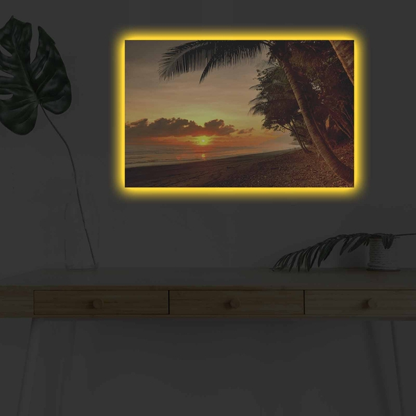 4570DHDACT-086 Multicolor Decorative Led Lighted Canvas Painting