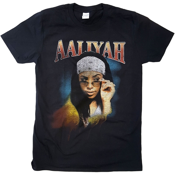 Aaliyah - Trippy Unisex XX-Large T-Shirt - Black
