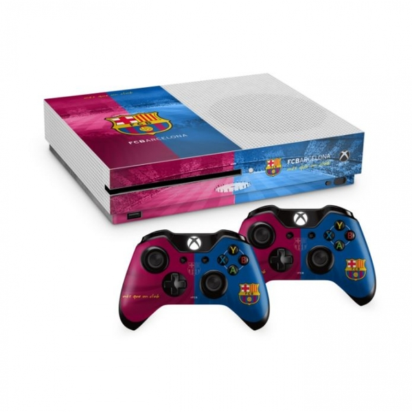 Official Barcelona FC Xbox One S Console Skin and 2x ... Official Xbox One Console