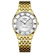 Rotary GB90803/01 Quartz Ultra Slim Gents Bracelet Gold Plate Watch