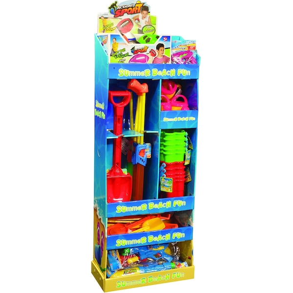 Summer Beach Toy Display Unit (Toys Not Included)