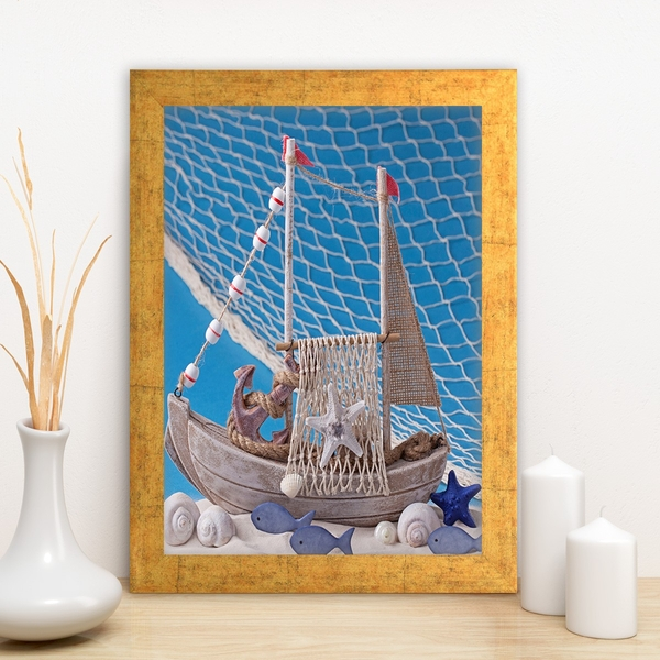 AC1935127732 Multicolor Decorative Framed MDF Painting