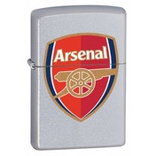 Zippo Arsenal FC Satin Chrome Windproof Lighter
