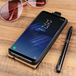 Caseflex Samsung Galaxy S8 Plus Real Leather Flip Case - Black (Retail Box) - Image 2