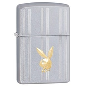 Zippo Playboy, Strips And Bunny Head Chrome Regular Windproof Lighter