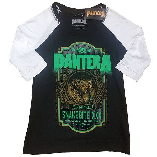 Pantera - Snakebit XXX Label Ladies Medium T-Shirt - Black,White