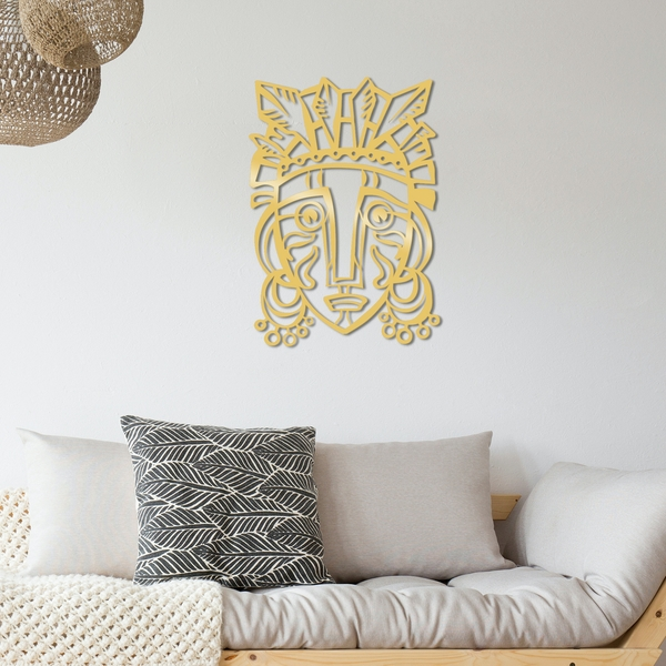 Redempt?on Metal Decor - Gold Gold Decorative Metal Wall Accessory