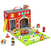 Wooden  Fire Station Box