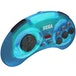 Retro-Bit Official SEGA Mega Drive Blue Wireless Controller 8-Button Arcade Pad for Sega Mega Drive - Image 2