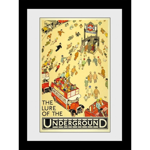 Transport For London Lure Of The Underground 60 x 80 Framed Collector Print