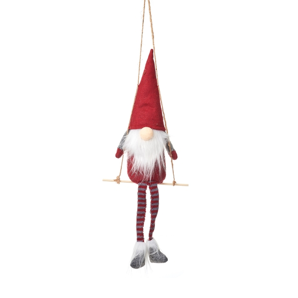 Sass & Belle Santa on a Swing Felt Decoration