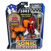 Sonic 20th Anniversary 2003 3 Inch Knuckles & Egg Pawn