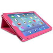YouSave Accessories iPad Air Leather Effect Stand Case - Hot Pink