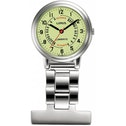 Lorus Nurses Fob Watch (Silver with Yellow Dial)