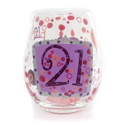 Lolita Birthday 21 Stemless Wine Glass