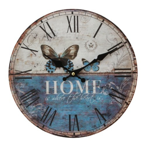 Hometime Forest Gate Home Butterfly Wall Clock