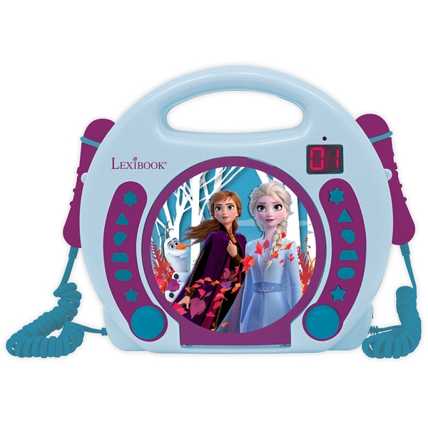 Lexibook RCDK100FZ Disney Frozen II CD Player with Microphones UK Plug
