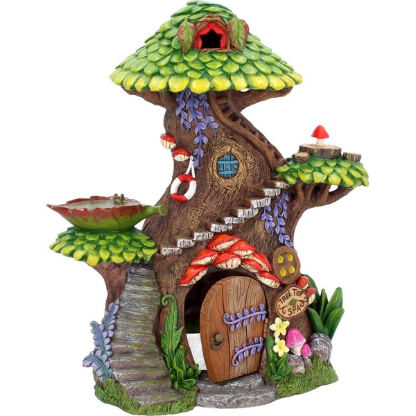 Tree Top Spa House Fairy Ornament