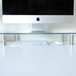 Adjustable Glass Monitor Stand Non-Slip Feet | M&W Clear Extra Large - Image 8